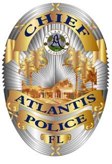 Atlantis Police Department Chief Badge